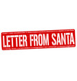 letters from santa grunge rubber stamp vector image vector image