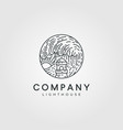 lighthouse logo design minimalist lighthouse logo vector image vector image