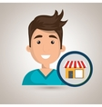 man store market icon vector image