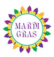 mardi gras frame template with space for text vector image vector image