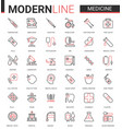 medicine healthcare line icon vector image