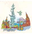 moskow doodles vector image vector image
