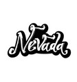 nevada sticker modern calligraphy hand lettering vector image vector image
