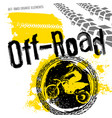 off-road motorcross set vector image vector image