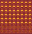 ornament love pattern brown vector image vector image