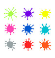 paint splatters colorful splash isolated vector image