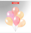 pastel colored shine transparent air balloons vector image vector image