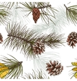 Pine branches colored seamless pattern vector image vector image