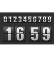 Plastic digits set vector image vector image