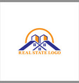 real-state-logo-design vector image vector image