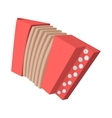 Red retro accordion cartoon icon vector image vector image