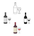red wine icon in cartoonblack style isolated on vector image