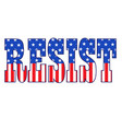 resist typography with stars and stripes vector image vector image