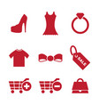 retail and fashion icon vector image