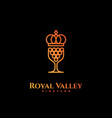 royal valley logo vector image