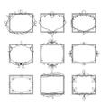 set decorative frames vector image vector image