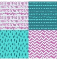 Set of 4 decorative artistic seamless patterns vector image vector image