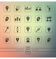 Set of idea icons vector image vector image