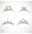 Shining gold tiaras with diamonds vector image