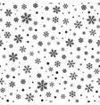 snowflake winter snow line seamless pattern vector image vector image