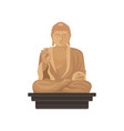 statue of big buddha famous historical monument vector image vector image