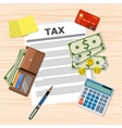 tax payment design vector image
