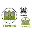 Tennis game sports emblems and icons vector image vector image
