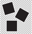 three blank retro photo frames vector image