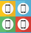 touch screen smart phone icon flat design vector image vector image