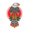 traditional eagle tattoo flash vector image vector image
