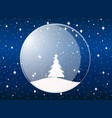 transparent snow globe holiday toy vector image vector image