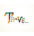 Travel word font concept vector image