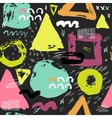 Trendy seampless pattern with brush strokes vector image vector image
