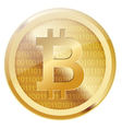virtual coins vector image vector image