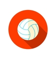 Volleyball flat icon with long shadow vector image vector image