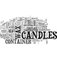 why candles text word cloud concept vector image vector image