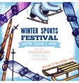 Winter Sport Poster vector image vector image