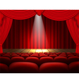 The theater stage background vector image