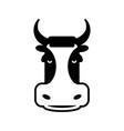 cow head sign bull face symbol farm animal vector image