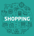 linear shopping vector image