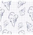 Ice Cream Paper vector image