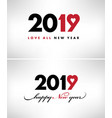 2019-happy new year card with symbol heart vector image