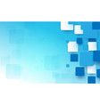 abstract blue and white geometric squares vector image vector image