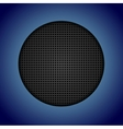 Abstract dark perforated texture vector image vector image