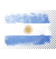 abstract grunge flag argentina vector image vector image