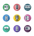 Air conditioning system round flat icons vector image