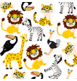 animals of the africa pattern vector image vector image