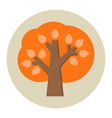 autumn tree flat icon vector image vector image
