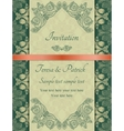 Baroque invitation green vector image vector image