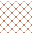 Baseball bat pattern cartoon style vector image